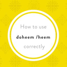 Luxembourgish vocabulary doheem heem