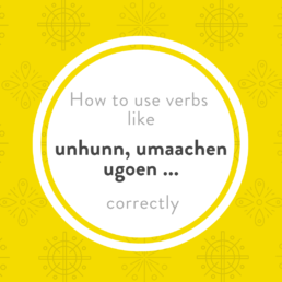 Luxembourgish separable verbs