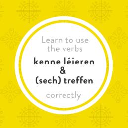 Luxembourgish verbs treffen