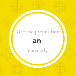 Luxembourgish preposition an