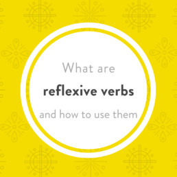 Luxembourgish reflexive verbs