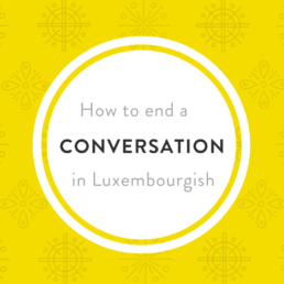 Luxembourgish conversation