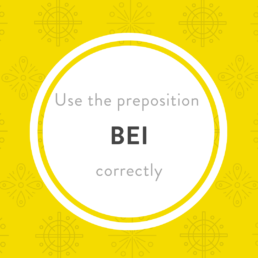 Luxembourgish preposition bei