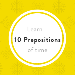 Luxembourgish prepositions time