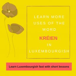 Luxembourgish lesson Verb kréien