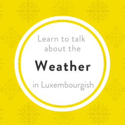 Luxembourgish weather Wieder