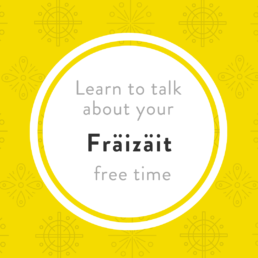 Fräizaït free time activities Luxembourgish