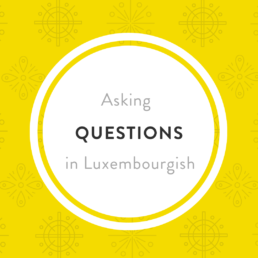 ASKING QUESTION Luxembourgish