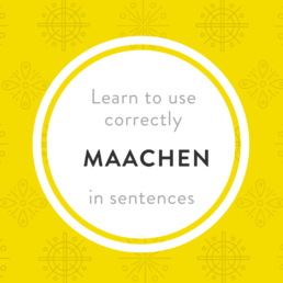 Luxembourgish verb maachen