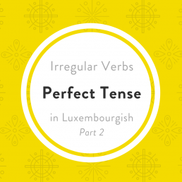 Luxembourgish irregular verbs perfect