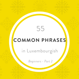 Luxembourgish common phrases A1