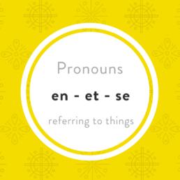 Luxembourgish Pronouns