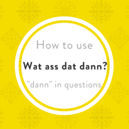 Luxembourgish tricky words dann