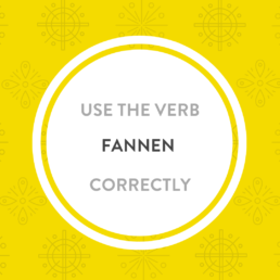 Luxembourgish verb fannen