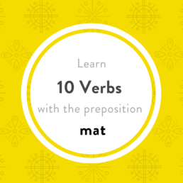 luxembourgish verbs with mat