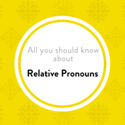 Luxembourgish lesson relative pronouns