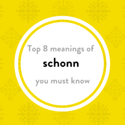 Luxembourgish vocabulary schonn