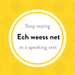 Luxembourgish lesson ech weess net