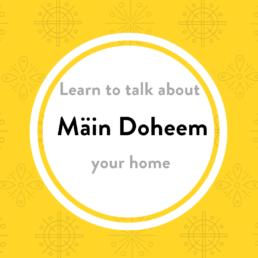 Luxembourgish lesson doheem
